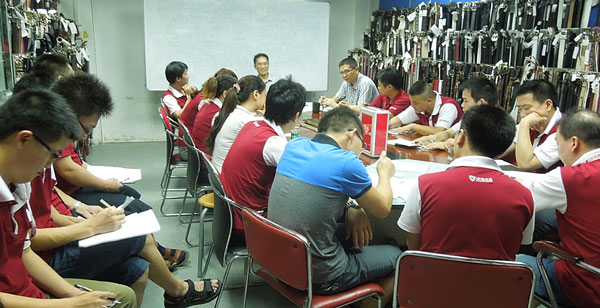 The Picture Of The Department Work Communication Meeting in J.D. Leather Goods