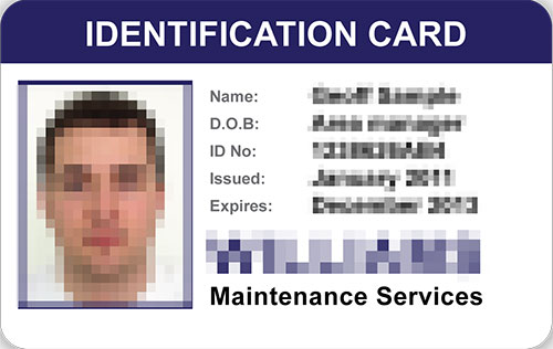 Supplying a new ID card and temporary identity card
