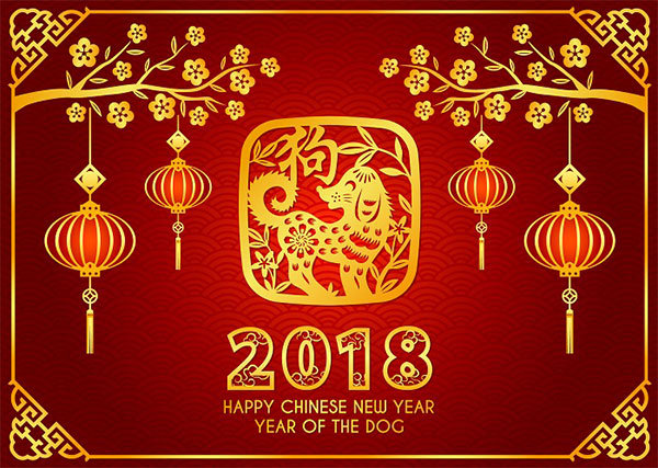 Happy 2018 Chinese New Year of Dog