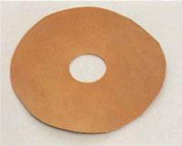 cut the leather into doughnut's shape