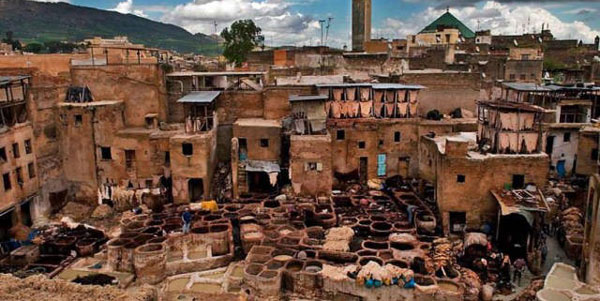 (1/3) A tannery in Faiz (Morocco) - Chrome Tanning
