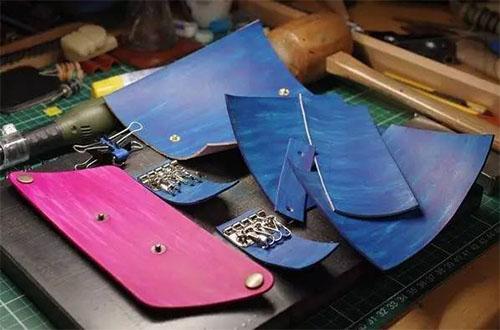 The parts of wallet & holder set #1