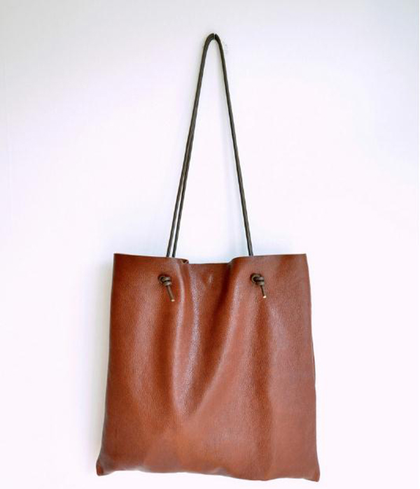Handmade handbag finished