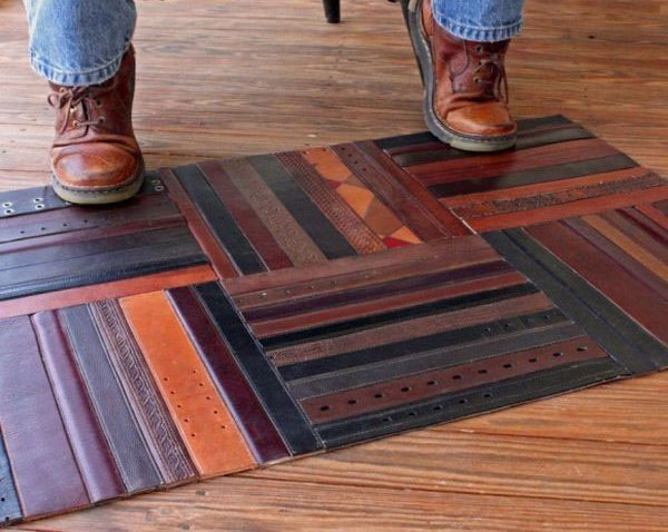 Carpet made with belts 2