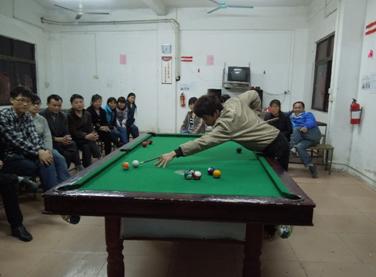Playing billiards