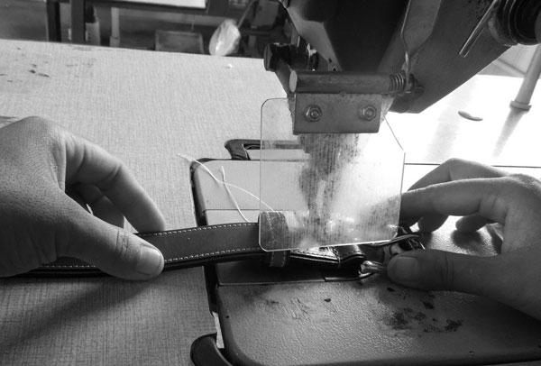 Cole Haan belt sewing