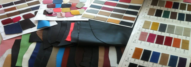 Leather color board