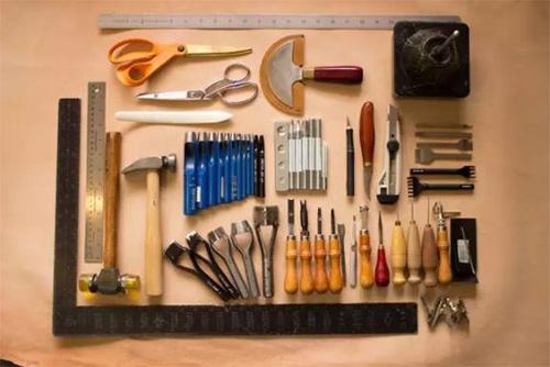 Tools: rulers, hammers, scissors, utility knife, etc