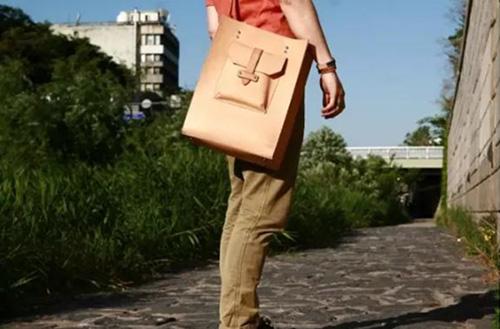 The fInished messenger bag