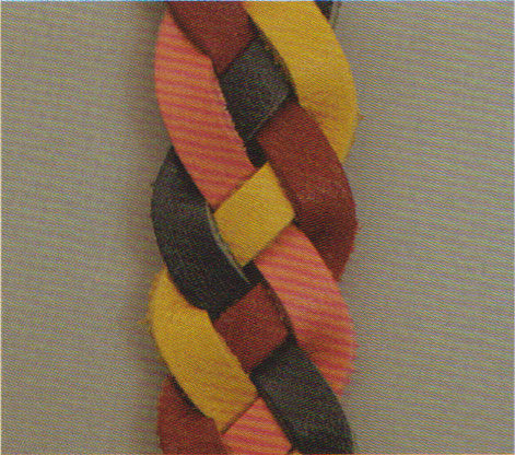 Four-String Flat Braided Leather