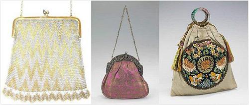 Evening handbag design of the 1820s